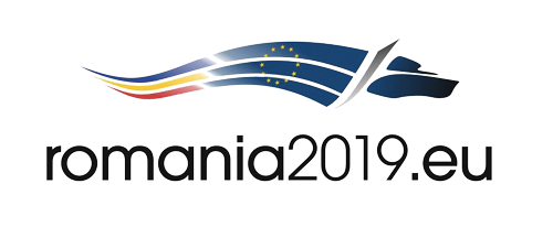 Logo of the Romanian Presidency of the Council of the European Union January-June 2019