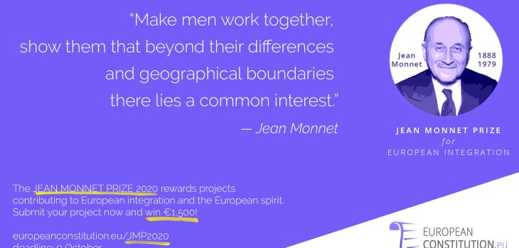 Promotion Jean Monnet Prize 2020